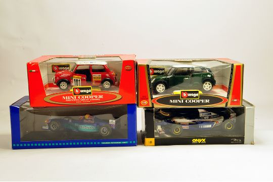 Diecast Assortment To Include Burago And Onyx Issues Mini Cooper