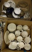 Two boxes of assorted china wares to include Midwinter, Denby,