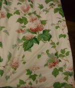 "Two pairs of glazed cotton Colefax & Fowler ""Chantilly"" pattern interlined curtains with taped"