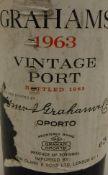 Graham's Vintage Port 1963, bottled 1965,