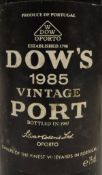 One bottle Dow's Vintage Port 1985, 75 cl, together with Dow's Vintage Port 1975,