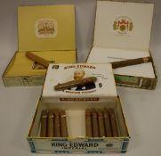 A box of Macanudo Jamaica PP cigars,