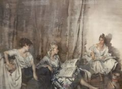 """AFTER SIR WILLIAM RUSSELL FLINT (1880-1969) """"Brenda Reading"""", colour print,"""