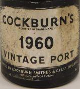 One bottle Cockburn's Vintage Port 1960,