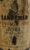 One bottle Sandeman Vintage 1955 Port,