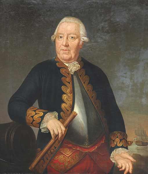 Lot 44 - Nautik - - Porträt eines holländischen Kapitäns oder Schiffseigners. 18./19. Jhdt., unsigniert, Öl