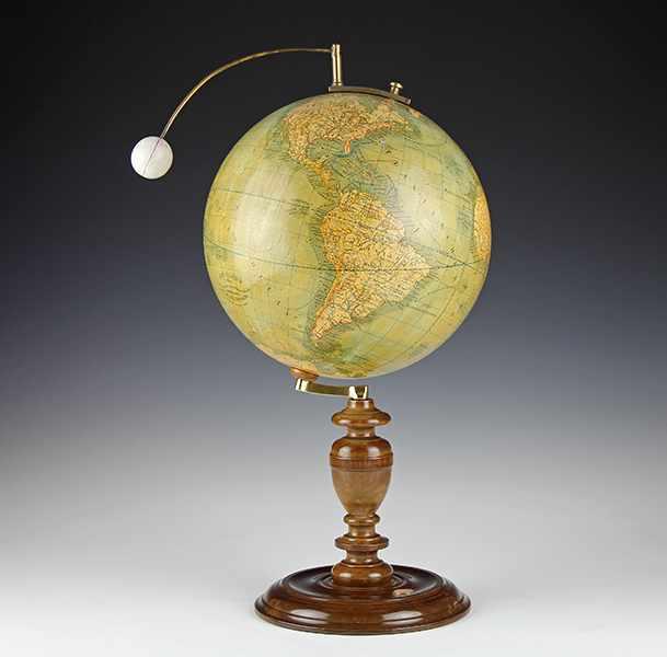 """Lot 9 - Globen - Astronomie - - Seltenes Lunarium von Ludwig Julius Heymann. Berlin um 1885, bezeichnet """""""