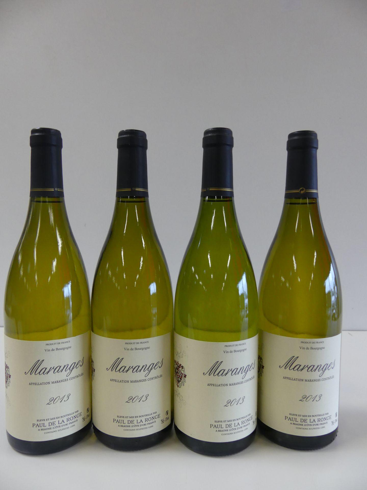 Los 10 - 4 Bourgogne Blanc Maranges Paul de la Ronce 2013 -