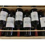 12 Château Haut Blaignan Médoc Cru Artisan 2013 Caisse Bois Non d'Origine -