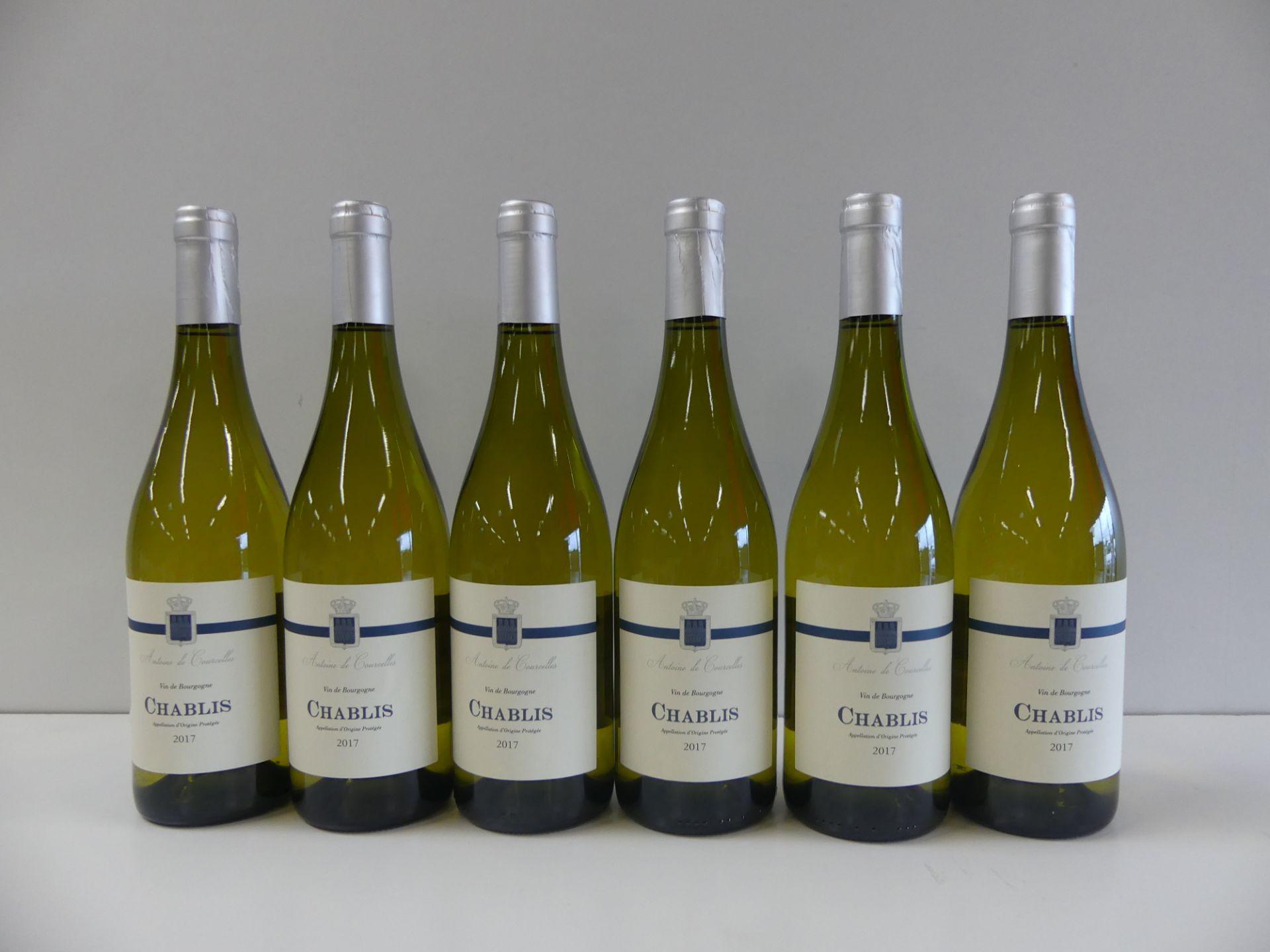 Los 1 - 6 Bourgogne Blanc Chablis Antoine de Courcelles -