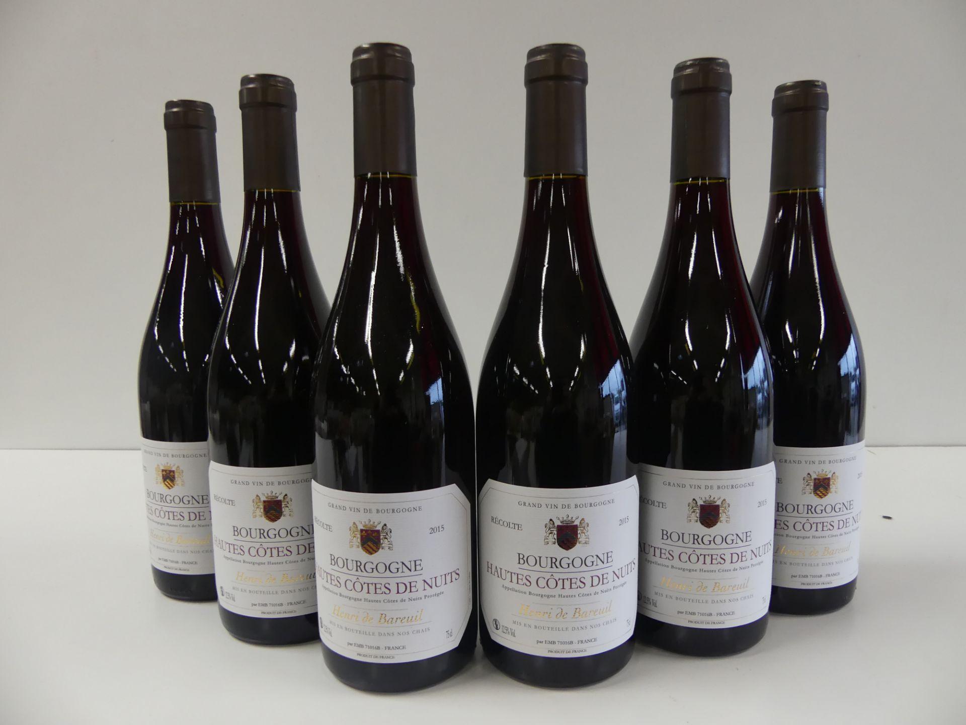 Los 55 - 6 Bourgogne Rouge Hautes Côtes de Nuits Henri de Bareuil 2015 -