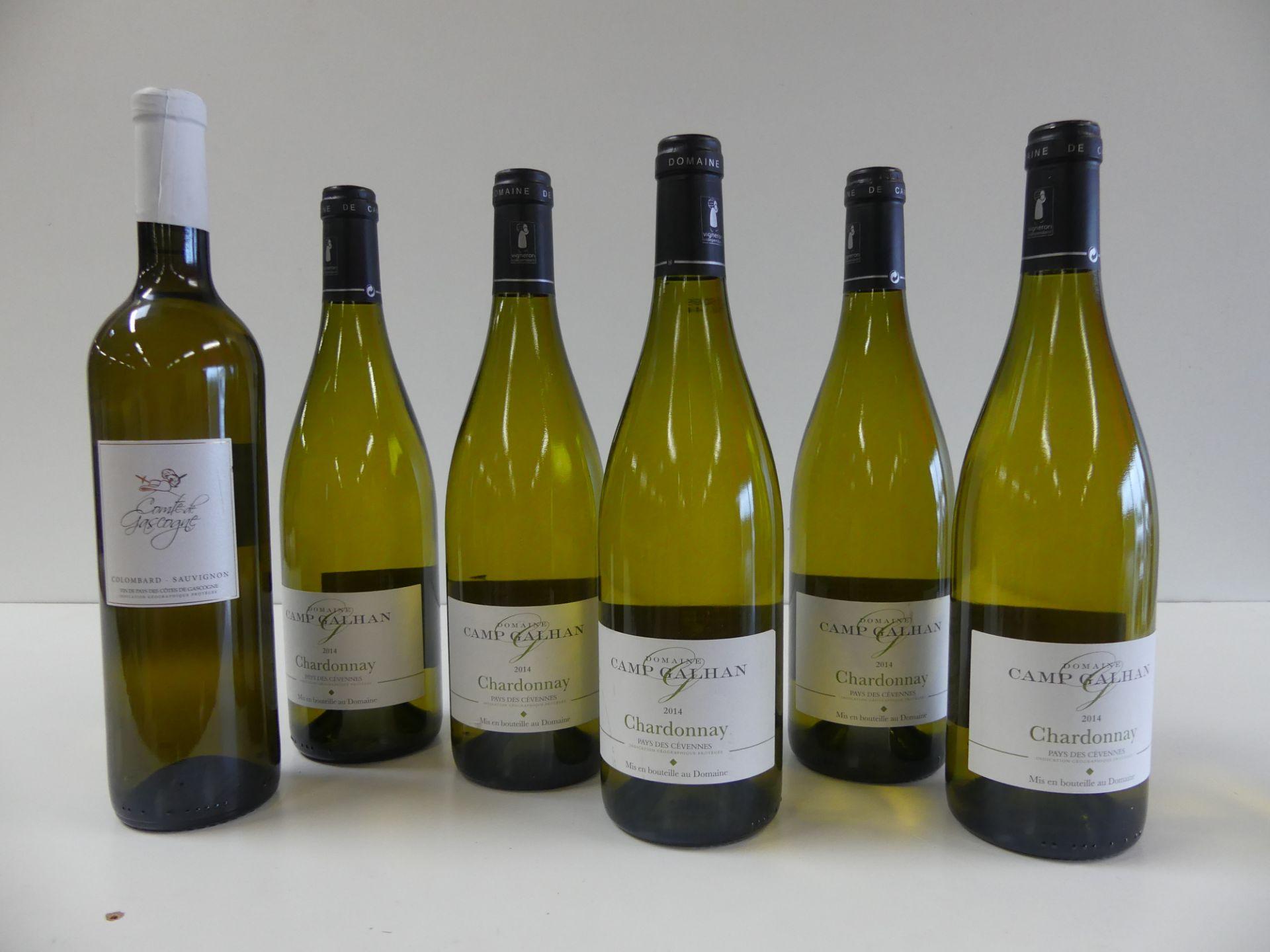 Los 12 - 6 BTLES : 5 Domaine Camp Galhan Chardonnay 2014 ; 1 Comte de Gascogne Sauvignon Blanc [...]