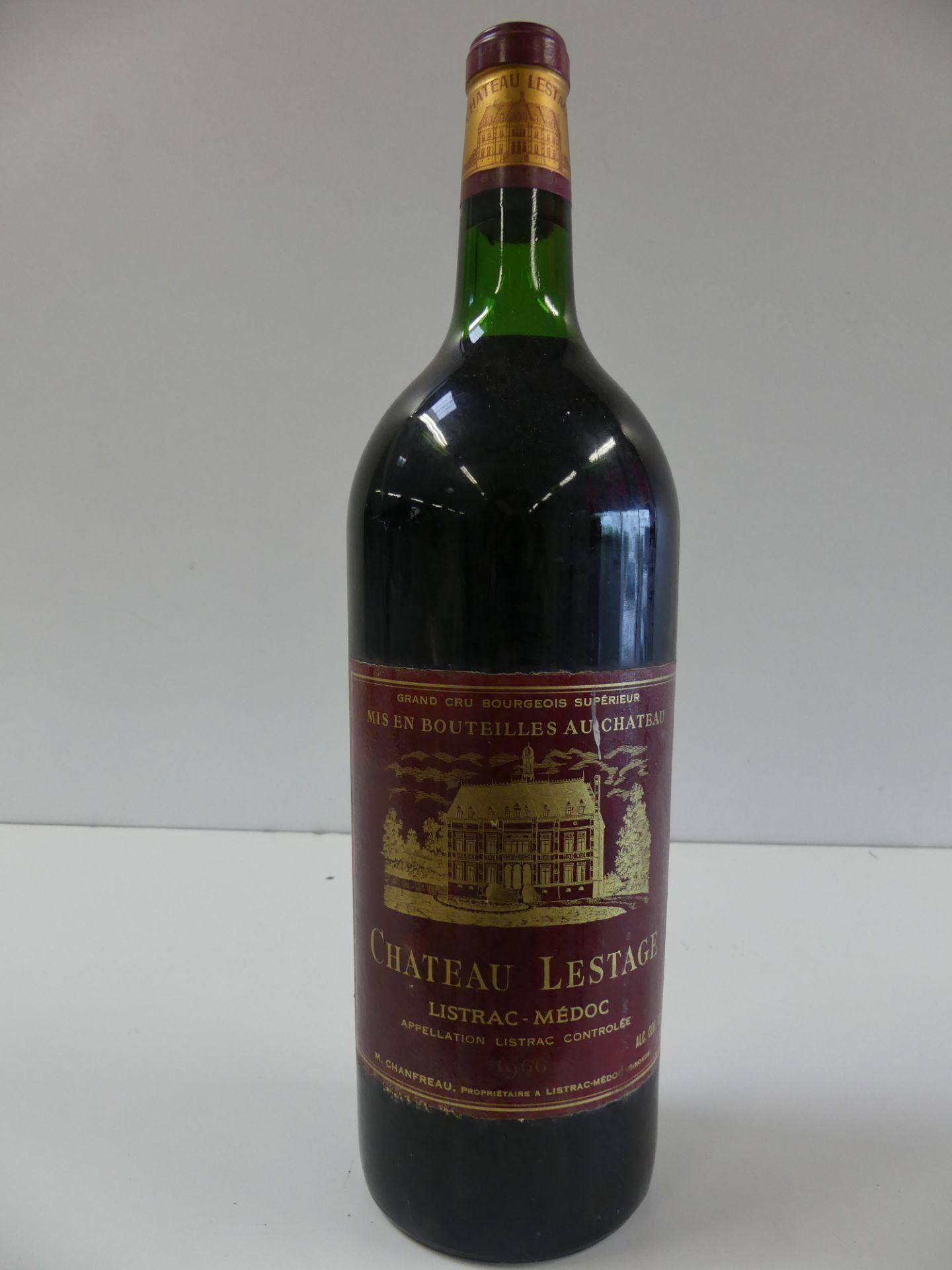 Los 23 - 1 MAGNUM de Château Lestage Listrac Médoc Cru Bourgeois Supérieur 1966 (BE/ME) -