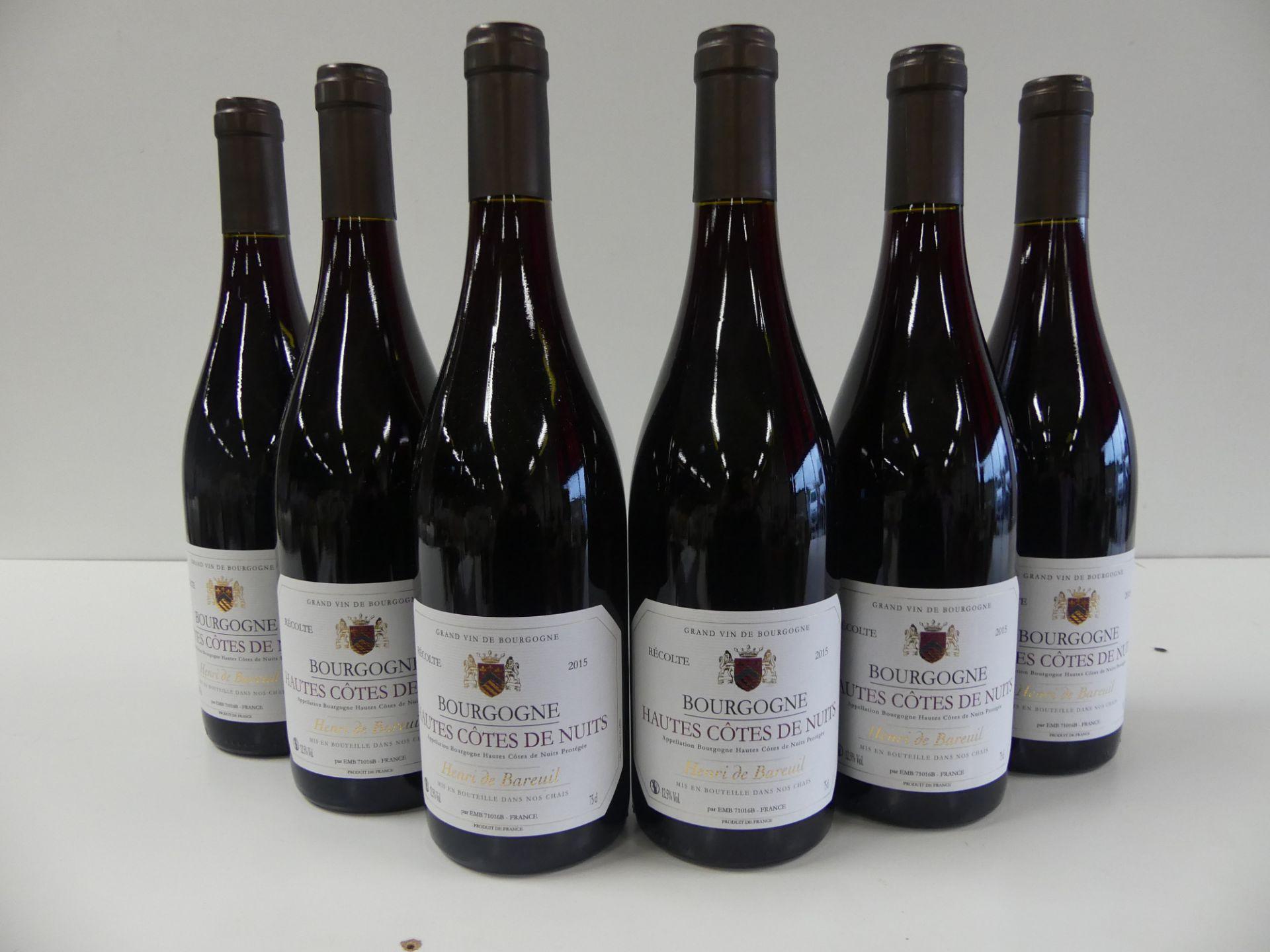 Los 54 - 6 Bourgogne Rouge Hautes Côtes de Nuits Henri de Bareuil 2015 -