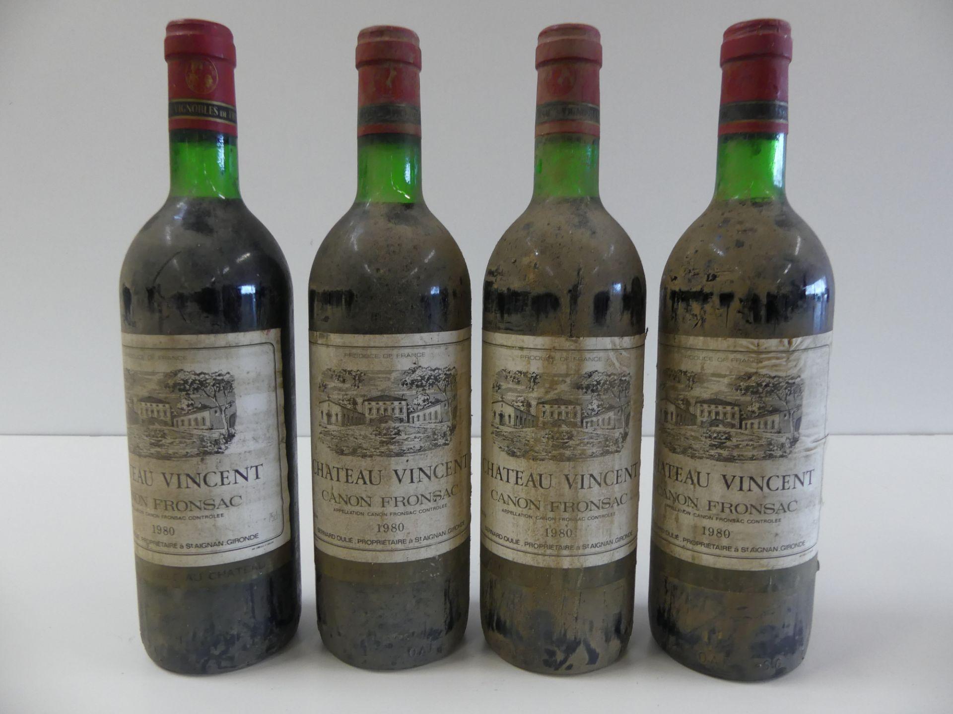 Los 49 - 4 Château Vincent Canon Fronsac Bernard Oulié 1980 Btles sales -