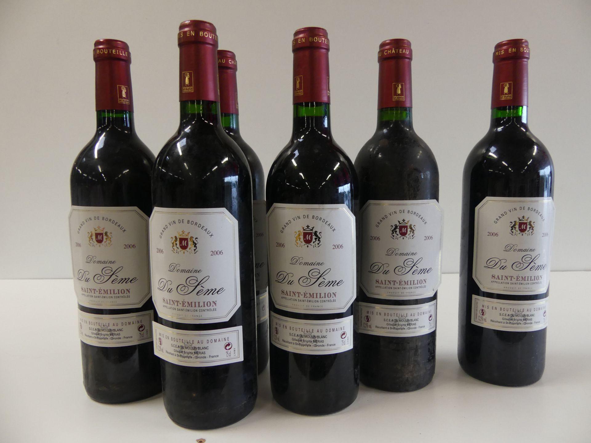 Los 48 - 6 Domaine du Sème St Emilion SCEA du Moulin Blanc 2006 -