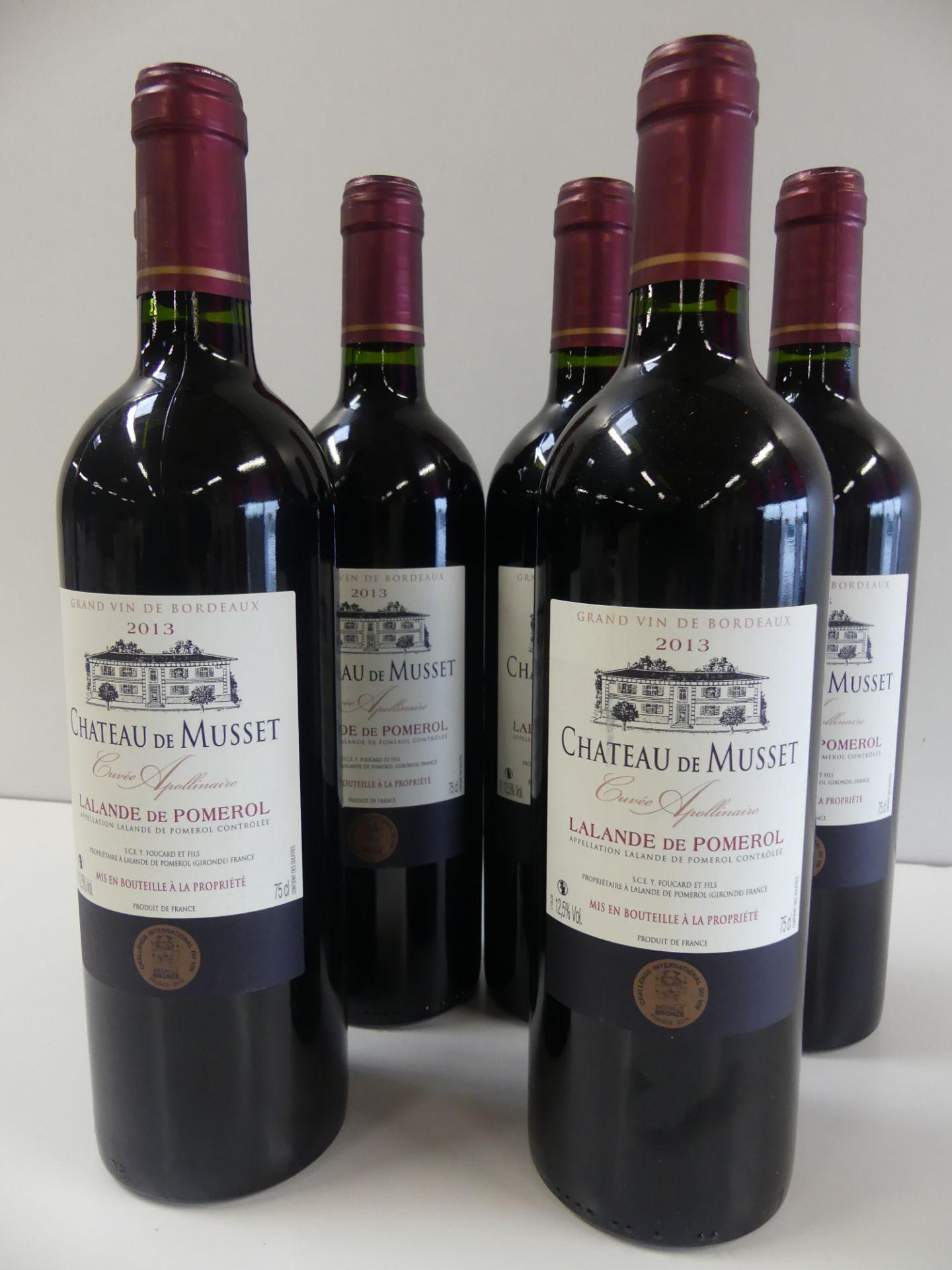 Los 4 - 6 Lalande de Pomerol Château de Musset Cuvée Apollinaire Médaille de Bronze 2013 -