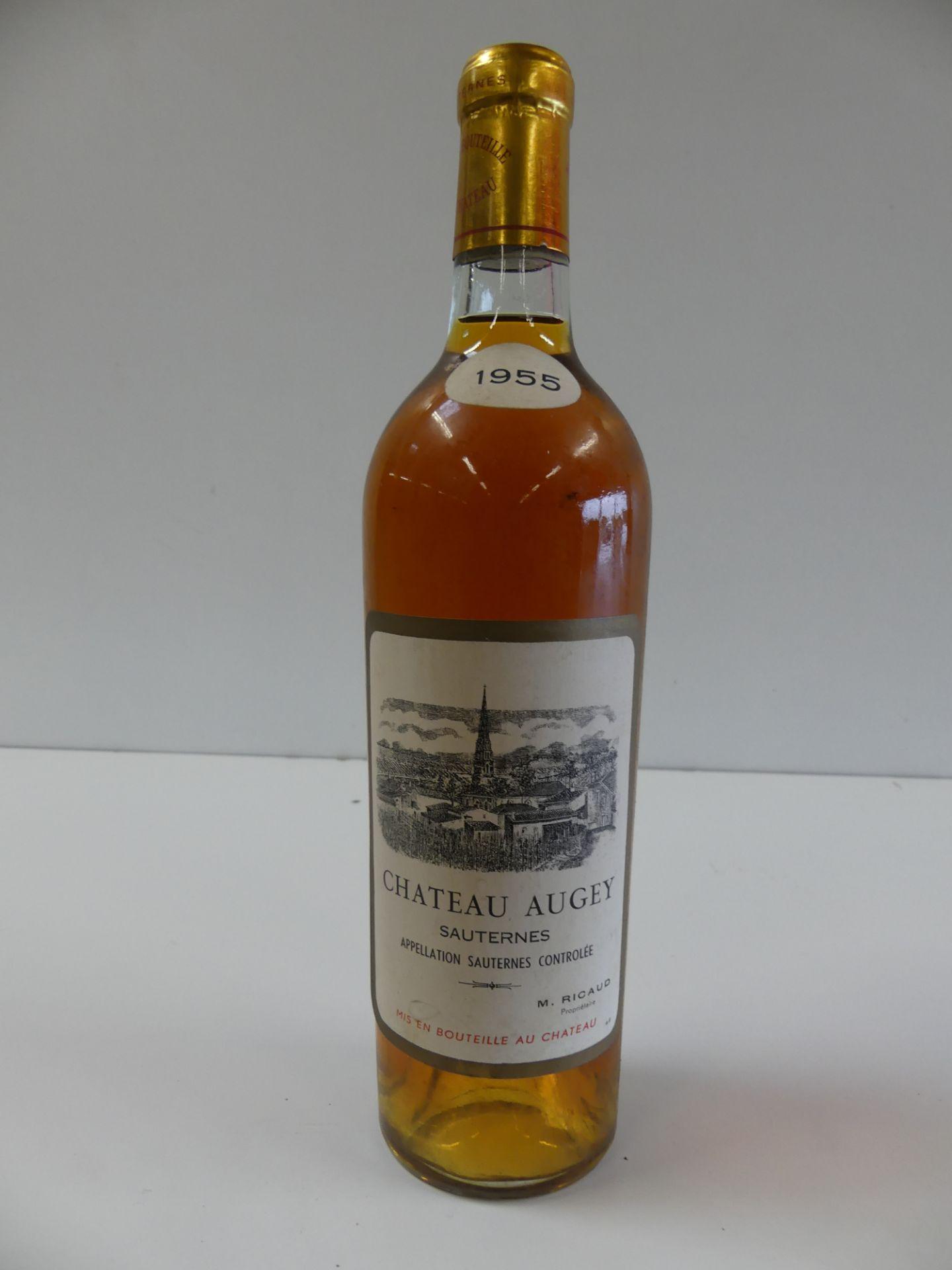 Los 24 - 1 Château Augey Sauternes 1955 M. Ricaud Propriétaire (Reconditionnée) -