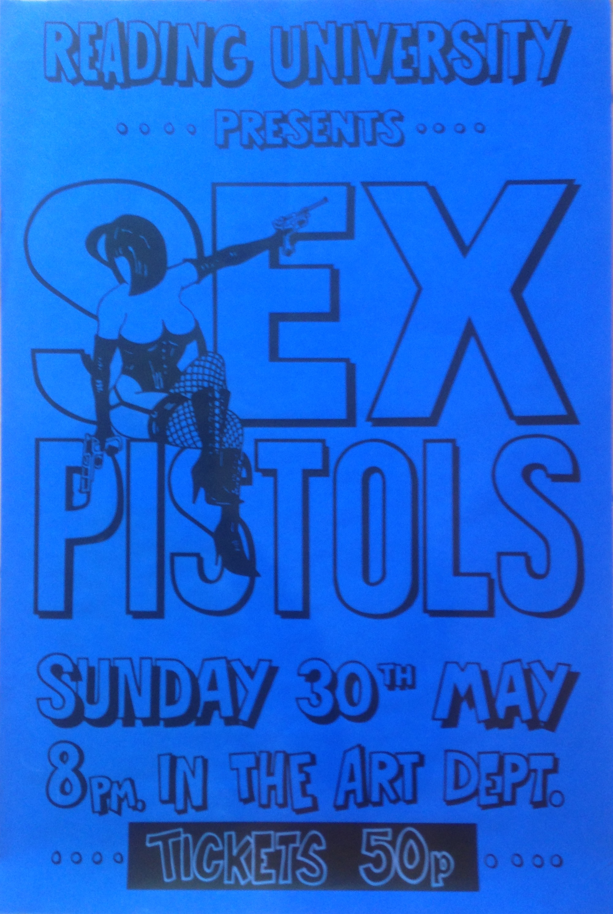 Lot 243A - SEX PISTOLS READING 1976 POSTER.