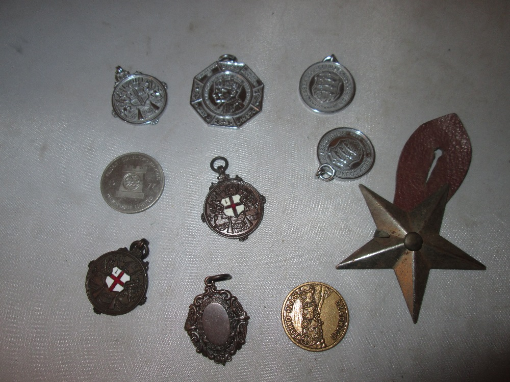 Lot 16 - Assorted base metal and other sporting medals
