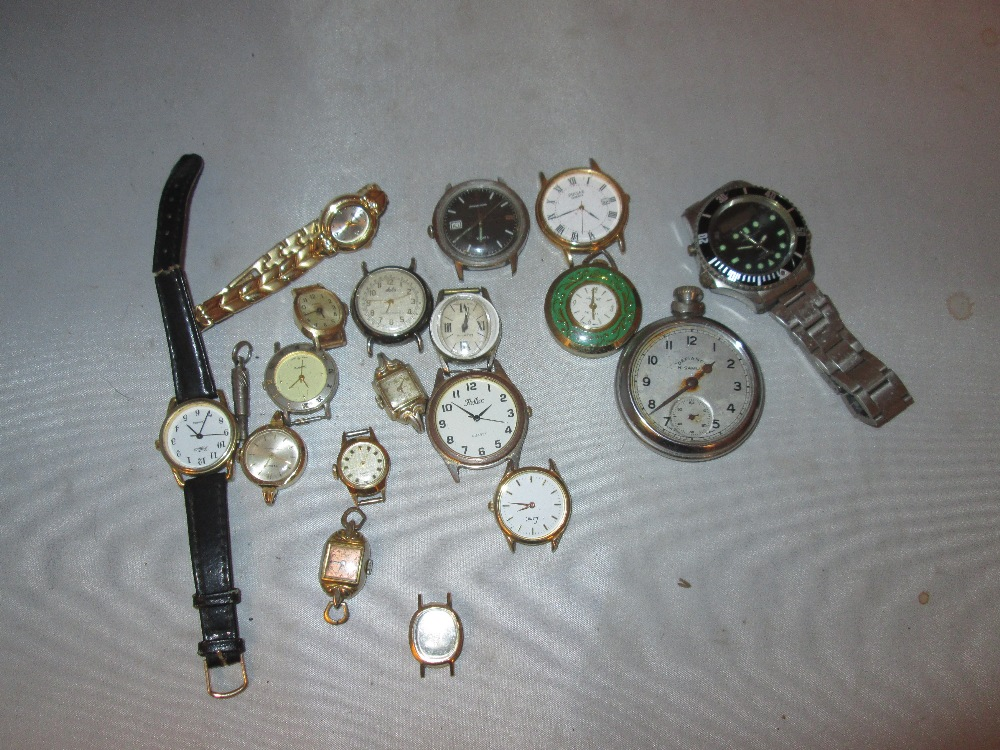 Lot 8 - Bag of vintage and later watches : Limit, Pulsar, Solo, Reflex, Lucerne, Persio, Rotary,