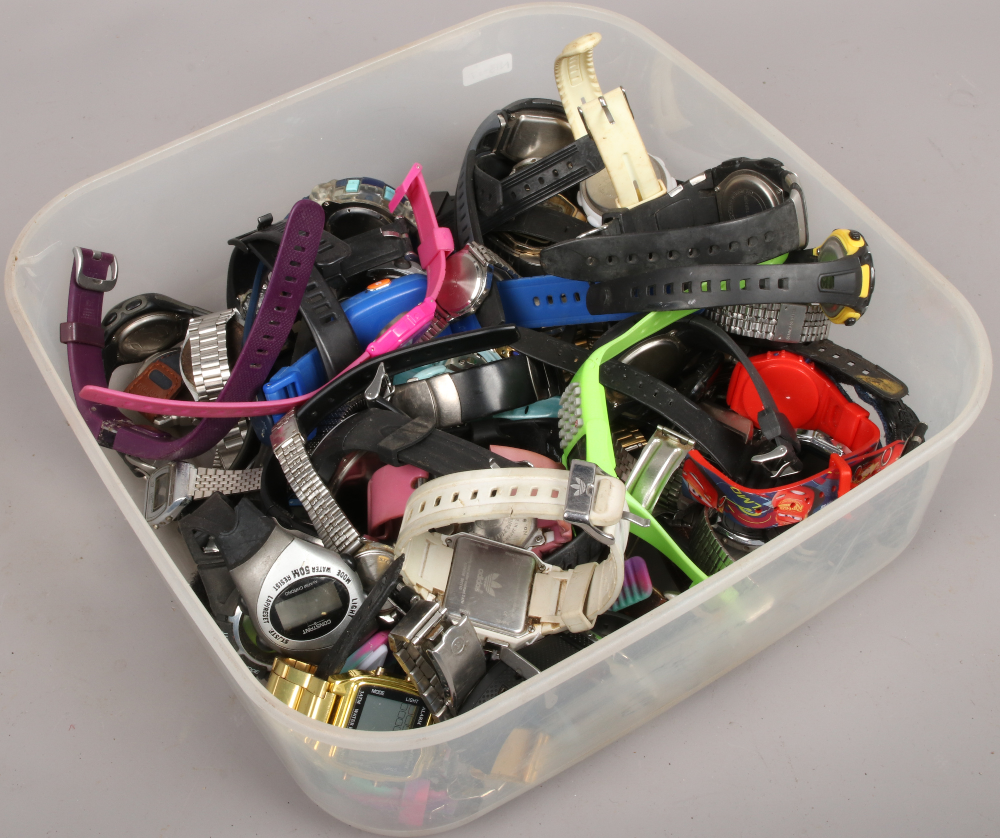 Lot 27 - A box of assorted digital wristwatches.