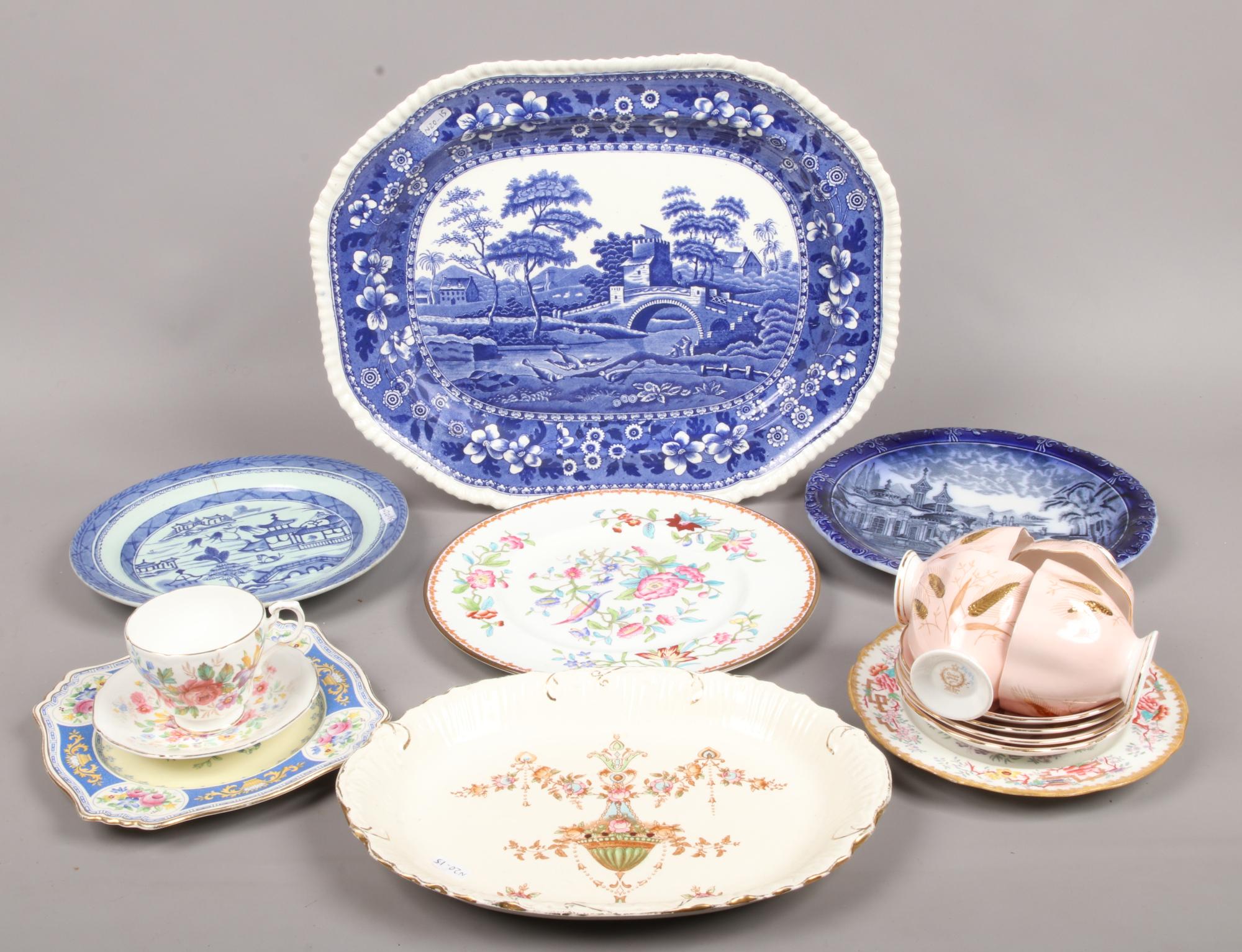 Lot 30 - A collection of ceramics to include Paragon, Spode, Coalport, Crown Devon etc.