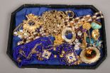 Lot 58 - A collection of costume jewellery to include Monet, Maluro, Sarah Cov etc. (four pairs of earrings)