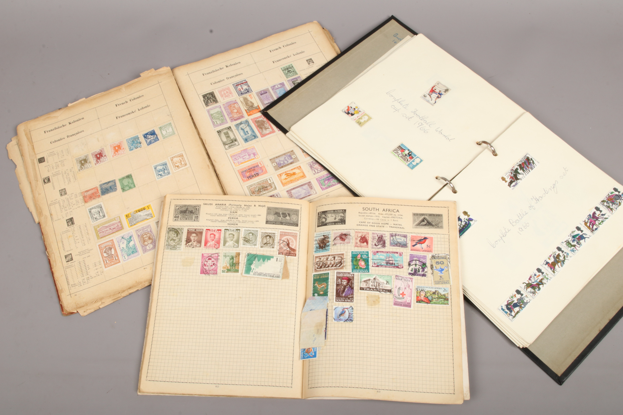 Lot 21 - Three albums of world stamps.