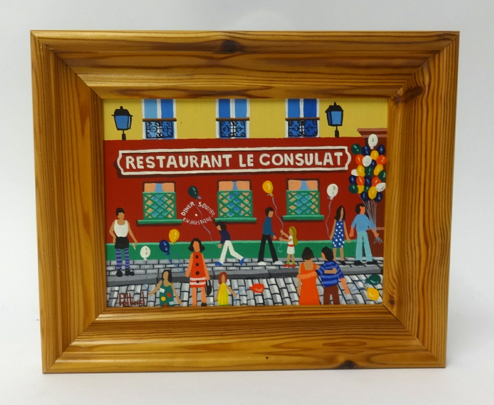 Lot 005 - Brian Pollard, oil on board, 'Restaurant Le Consulat Paris June 91', 15cm x 19cm.