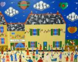 Lot 012 - Brian Pollard, original acrylic on board, signed 'The Lodge Hotel, Kingsbridge', 59cm x 74cm,