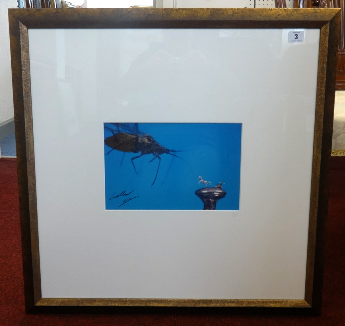 Lot 003 - Willard Wigan MBE b 1957, 'The Chariot', giclee print circa 2008, No.2/50, exhibited Plymouth