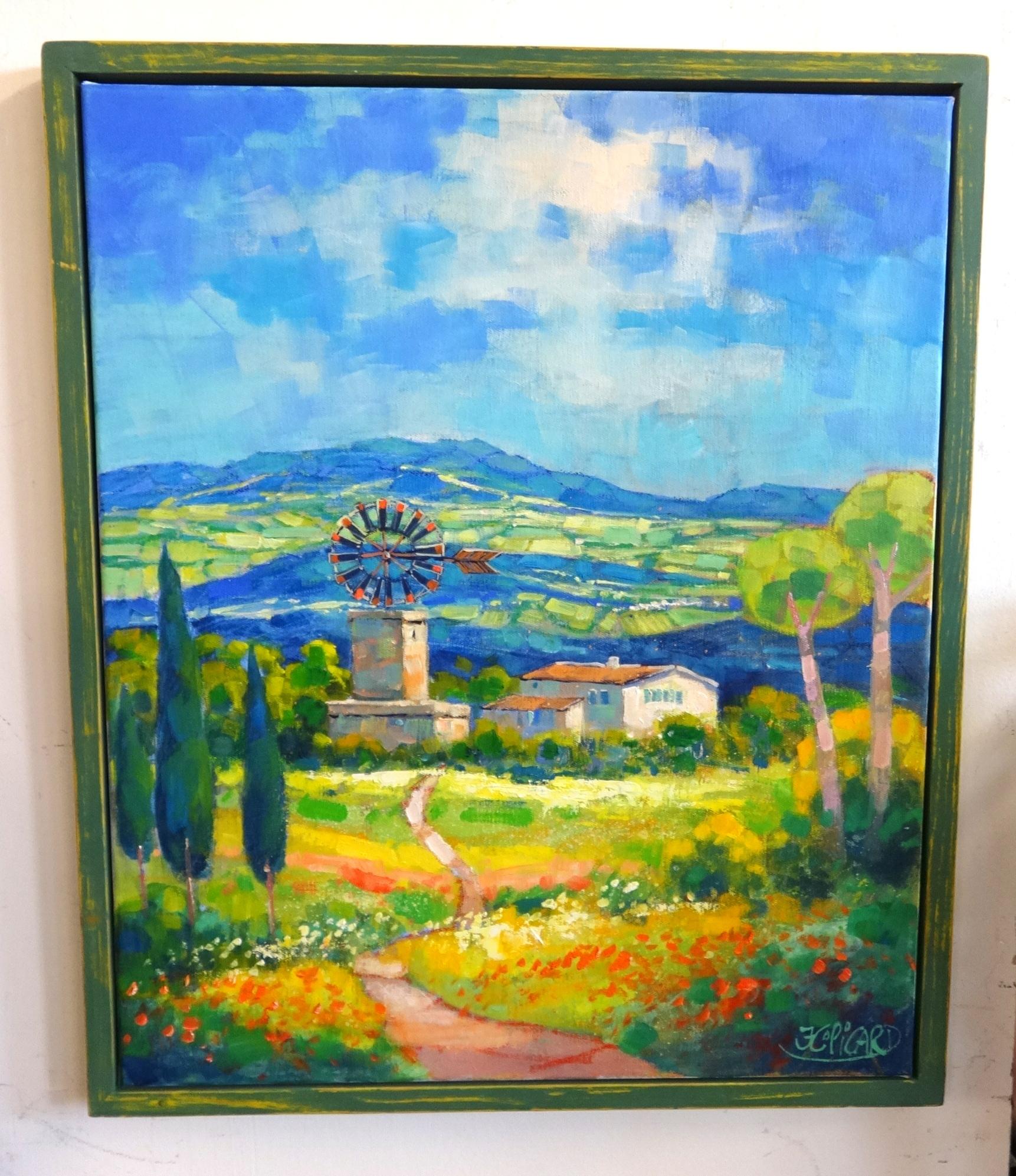 Lot 009 - Jean Claude Picard (b1943), oil on canvas, 'Landscape' signed, 60cm x 50cm.