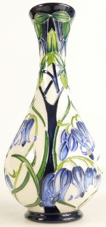 Lot 518 - Moorcroft Otley Bluebell vase. Shape 80