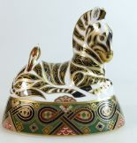 Lot 314 - Royal Crown Derby paperweight of Zebra,