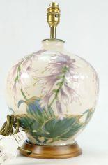 Lot 990 - Cobridge Stoneware lamp base hand painte