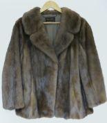 Lot 269 - Ladies vintage brown mink fur jacket, si