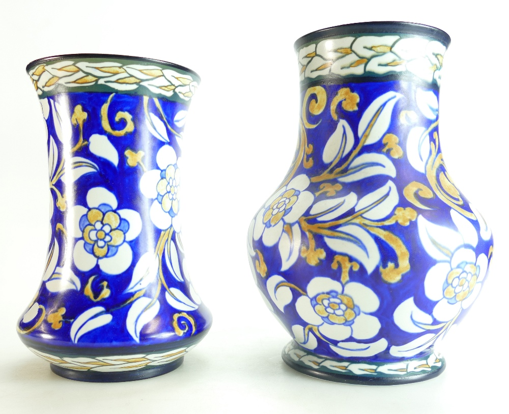 Lot 34A - Wardle 1920's vases decorated with styli