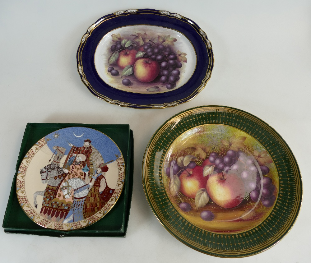 Lot 85 - Spode gilded plate hand painted with fru