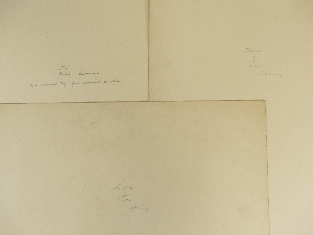 Lot 23 - Two Lafayette military portraits plus Middle Eastern man - Two photos appear Ghurka or Indian army