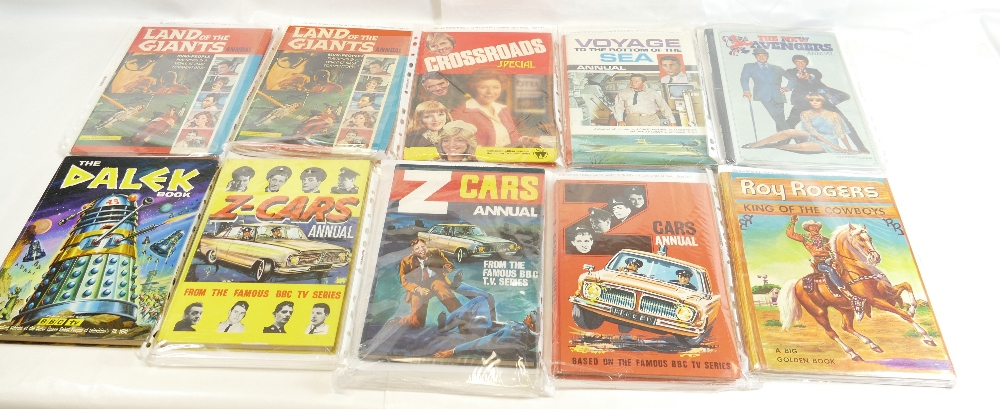 Lot 42 - Fifteen annuals including - Land of Giants (2), Crossroads Special, The Dalek Book,