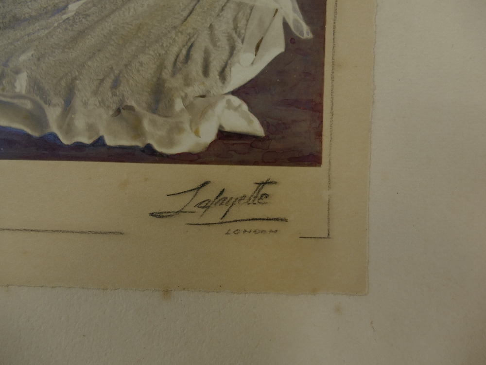 Lot 36 - Single HAND COLOURED LAFAYETTE PHOTOGRAPH possibly of Lord Mountbatten at his wedding.
