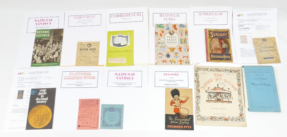 Lot 41 - Twenty Magazines and Ephemera items including - The Merry-go-Round x 2, Punch wartime edition 1940,