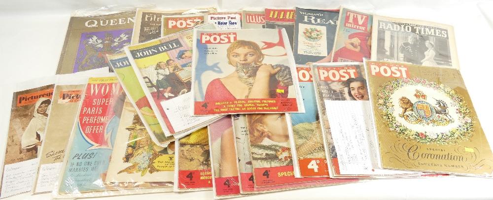 Lot 48 - MAGAZINES x 32 including - Film Weekly 1930, Picturegoer c1945 x 5, John Bull x 6 c1949-57,