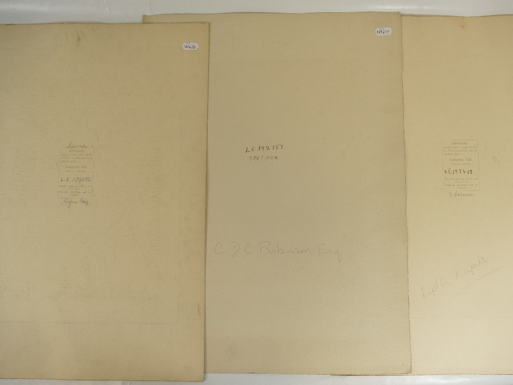 Lot 20 - Three identified Lafayette military portraits - CDC Robinson / Capt A Harper / Wynn esq.