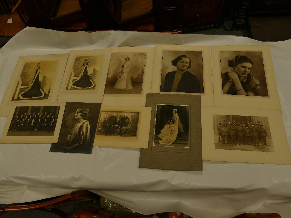 Lot 27 - Large group of THIRTY ONE (plus four smaller oddments) named and unnamed LAFAYETTE photographs -