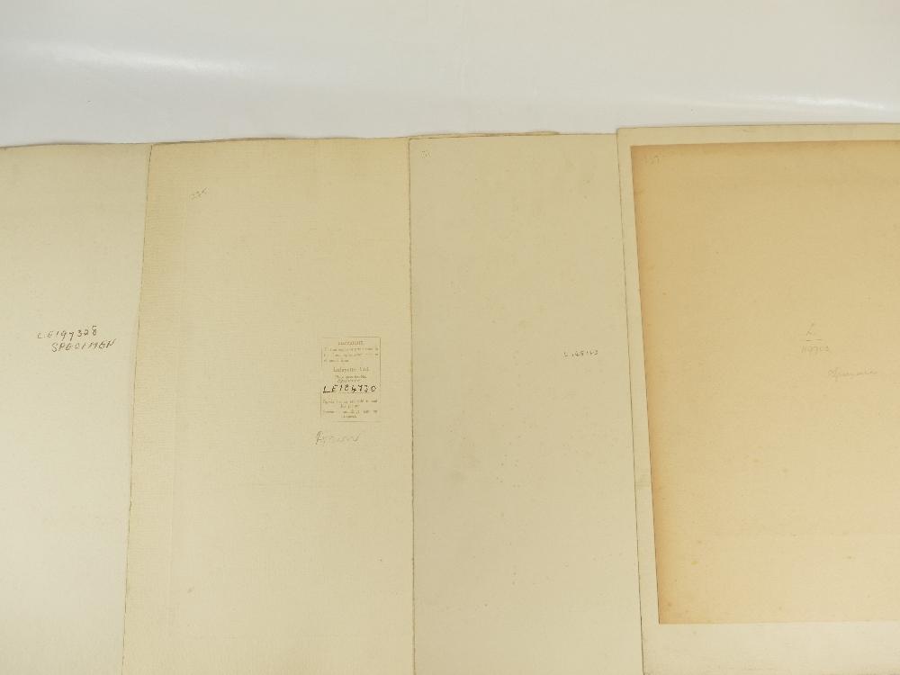 Lot 22 - Four unidentified Lafayette military portraits - all large specimen originals,