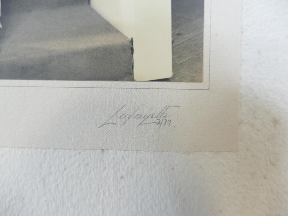 Lot 38 - Six LAFAYETTE PHOTOGRAPHS of ladies - photo size not including mount / margin,