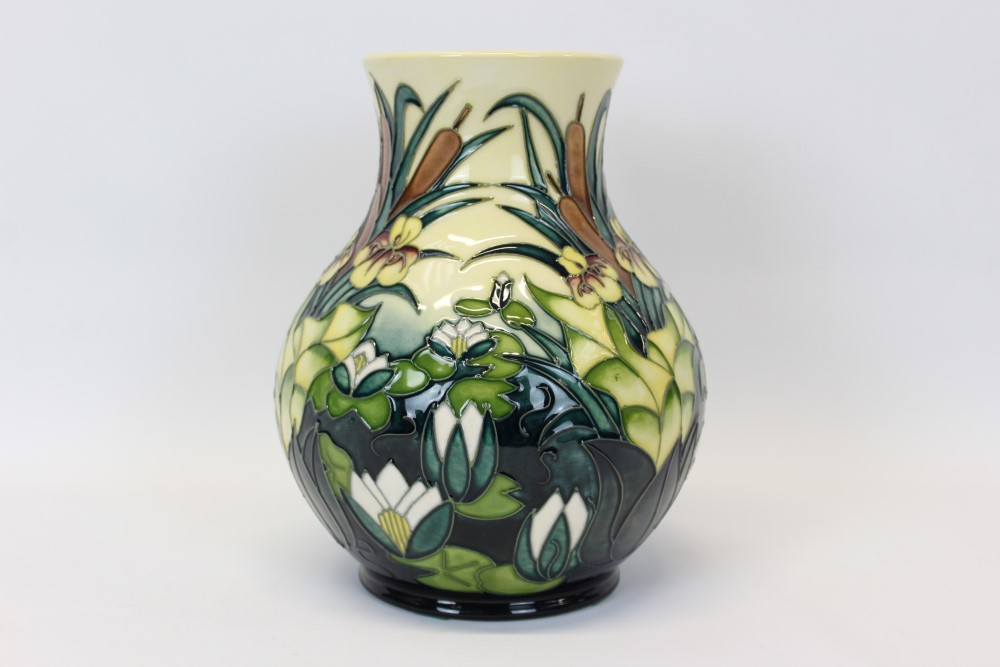 Lot 2009 - Moorcroft pottery vase decorated in the Larnia pattern - impressed and painted marks to base,