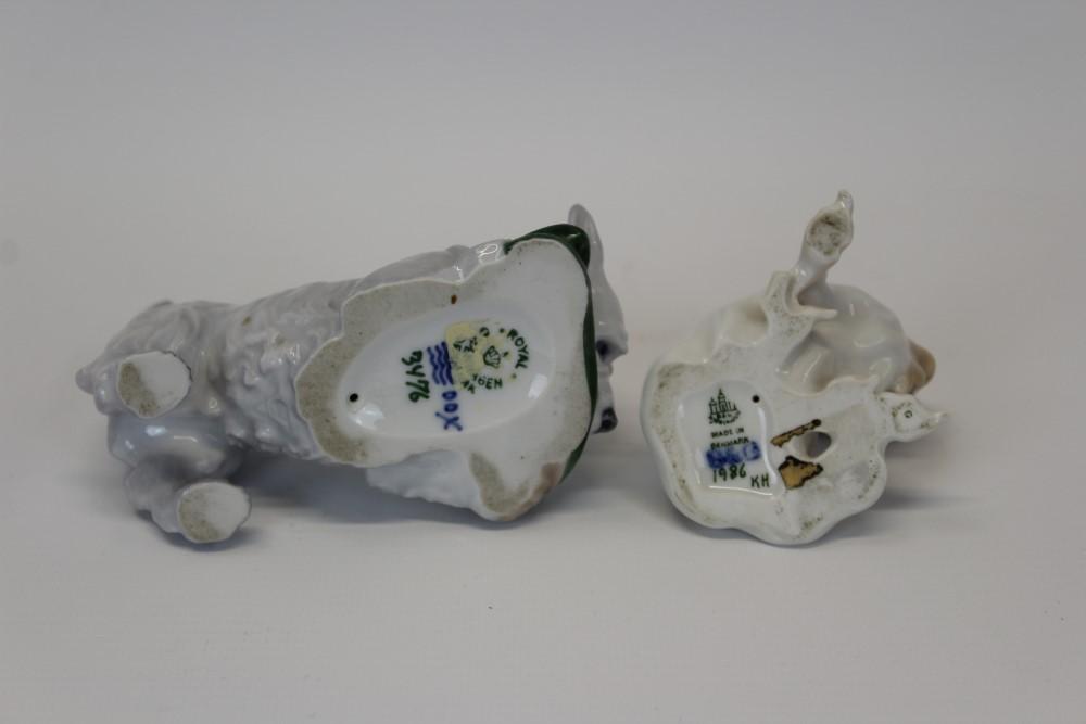Lot 2035 - Royal Copenhagen porcelain model of a terrier chewing a slipper,